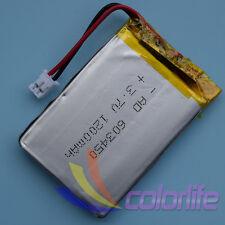 3.7V 1200mAh 603450 Batería recargable de Li-polímero JST 2.0 Conector Para Gps