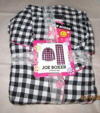JOE BOXER 1X   FLANNEL PAJAMAS PJS NWT BLACK WHITE SQUARES  WOMENS +