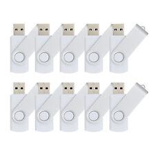 10pcs/lot 8GB USB Flash Drives Folding Flash Memory Stick Swivel Thumb Pen Drive