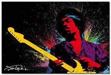 Jimi Hendrix Art Silk Poster Wall Decor 13x20 inch Psychedelic Rock Legend