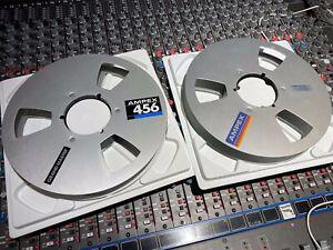 "Ampex aluminum 1"" x 10.5"" NAB hub take-up reel for analog tape."