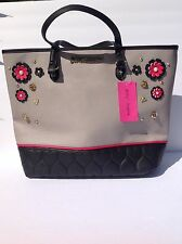 Betsey Johnson Tote Be Mine GREY Large