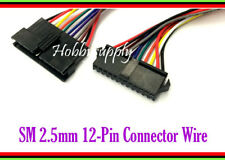 2 SET JST-SM 12-Pin Male Female Housing Connector Socket Adapter 30cm lead wire