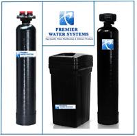 Whole House Water Softener Fleck 64K + Upflow Carbon Filtration System 2 cu ft.