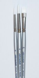 3 pc Silver White Artist Brush Set List $25.95 NOW ONLY $10.