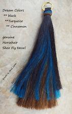 Horsehair Shoo Fly, horsehair tassel, 3 layers, turquoise, Shu fly tassel, Thick