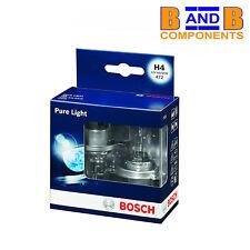 BOSCH H4 PURE LIGHT HALOGEN HEADLAMP BULBS 472 12v 60/55W TWIN PACK A1397