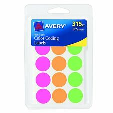 Avery Round Color Coding Labels, 0.75 Inch, Assorted, Removable