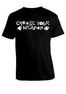 Choose your Weapon T-Shirt Maglia Maglietta Game Dadi Dice Game Gamer Gaming