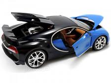 BUGATTI CHIRON SUPER CAR  BLUE&BLACK NEW IN BOX.