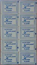France, lot, série de 10 carnets de vignettes code postal, 35000 Rennes