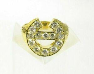 HORSESHOE DESIGN 18CT DIAMOND RING