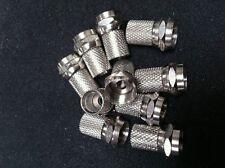FICHE F (10 PIECES) A VISSER POUR CABLE 6,8mm DE DIAMÊTRE