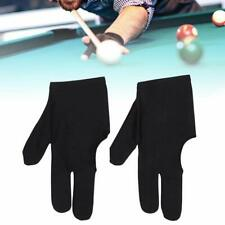 10Pcs 3 Fingers Billiard Cue Pool Gloves Snooker Left Hand Nylon Accessories US