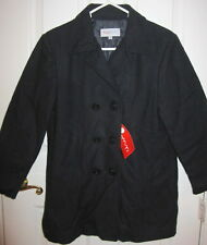 New with Tags Imp Original Boys Navy Blue Wool Pea Coat for Winter size 12 NWT