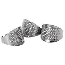 3PCS Adjustable Size Ring Finger Thimbles Sewing Handmade Craft Tool
