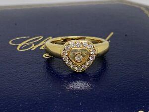 Chopard HAPPY DIAMONDS Ring mit Brillanten  Herz 750/18kt Gelbgold
