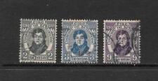 1929 King George V SG89 to SG91 set of 3 Catholic Emancipation  Used  IRELAND