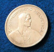 1954 B Switzerland 5 Francs - Fantastic Silver Coin - See PICS