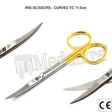 X1 TC Iris Scissors Curved Surgical Dental Surgery First Aid Scissor 11,5 cm Lab