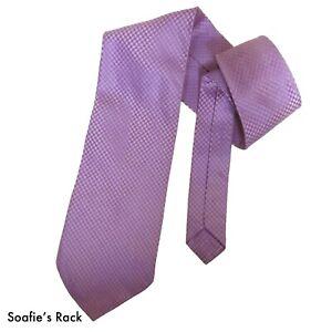 RESERVE Lavender Purple Dot Silk Classic Mens Tie