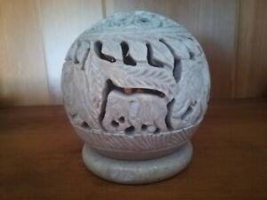 Soap Stone Round Ornament