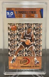 HGA 9.0 Mint 1992-93 Shaquille O'Neal Fleer Ultra All Rookie Series #7