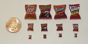 Wholesale Lot Dollhouse Miniature Chips 36 bags! Food 1:24  A16 Dollys Gallery