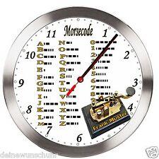 FUNK Wanduhr Uhr mit Morsecode mit Wunschnamen  Morsetaste Code Geschenk Morse
