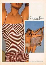 PUBLICITE  1979   CHRISTIAN DIOR   collection maillots de bain