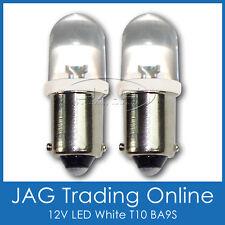 PAIR 12V LED T10 BA9S AUTOMOTIVE PARKER GLOBES HID LOOK WHITE - Car/Auto/Caravan