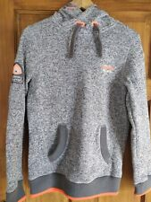Superdry Super dry Mountain Sport Grey Hoodie TeamFuji. SMALL Excellent Cond.