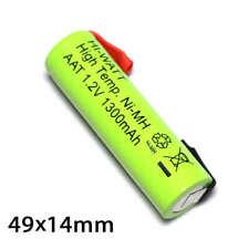 Batería AA/R6 recargable Ni-Mh 1300mAh, alta temperatura, conexiones para soldar