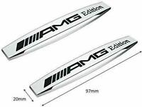 2 x  AMG EDITION Metal Side Wing Fender Badge Emblem Stickers for all Models