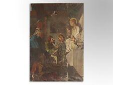 Grande peinture religieuse huile sur toile époque XIXème 250 X 185 cm