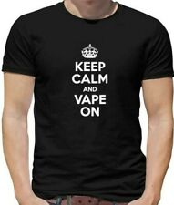 Keep Calm Vaporizzatore Su T-Shirt - Vaping - e-Cigaratte - e-Cig Fumare
