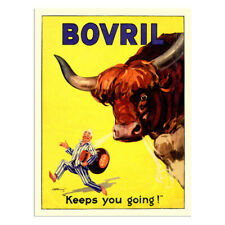 More details for classic bovril metal advertising vintage sign kitchen garage yeast extract wall
