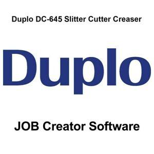 Duplo DC-645 Slitter/Cutter/Creaser JOB Creator Software (Comes on CD)