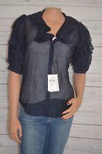 Ralph Lauren Black Label Blouse Shirt Chiffon Ruffle Short Sleeves Sz 2 New $698