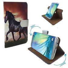 Mobile Phone Book Cover Case For Philips Xenium X588 - Horse Pony M