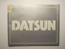 Datsun 1970's 38-Page Color Brochure! (280-Z B-210 Pickup F-10 610 710)