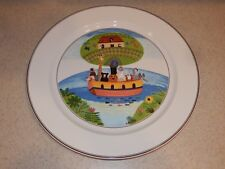 """VILLEROY AND BOCH CHINA DESIGN NAIF LARGE CHOP SERVING PLATE 12 3/8"""" EXCELLENT!"""