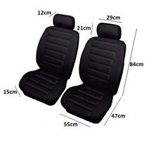 Sports Look Black Front Seat Covers-Leather Look Protectors-Quality For Toyota