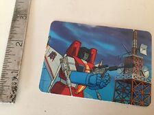 Transformers G1 Parts 1985 megatron transforms MB card series 1 card 77 hasbro