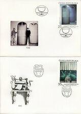 More details for czech rep 2018 fdc art komarek libensky paulus pontius 3v on 3 covers stamps