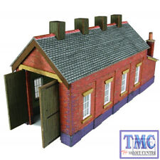 PN931 Metcalfe N Scale Red Brick Single Track Engine Shed