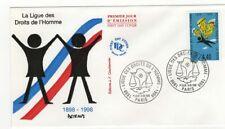 FRANCE FDC 1er jour 1998 Ligue des droits de l'Homme / FDCa40