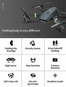 E58 hd 720P/1080P Wide Angle Camera Foldable wifi Drone tpv Quadcopter