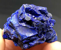 Gorgeous Gem Indigo Blue AZURITE Crystal Cluster on Matrix Mineral Specimen#3022