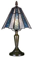 Mission Style Tiffany Uniques Verre Teinté Lampe Bureau Table - 17cm Large